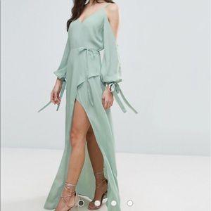 ASOS Cold Shoulder Maxi Dress